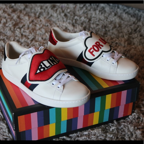 9ea9b8e4b197 Gucci Shoes - Blind For Love Gucci Sneakers